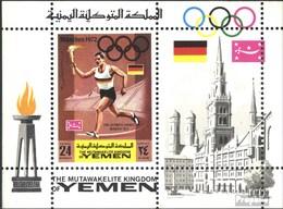 Jemen (Königreich) Block157A (kompl.Ausg.) Postfrisch 1969 Olymp. Sommerspiele '72, München - Yemen