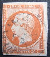Lot FD/1014 - NAPOLEON III N°16a Orange Vif - CàD : LE PUY EN VELAY / 7 MAI 1861 - Petits Défauts - Cote : 28,00 € - 1853-1860 Napoléon III