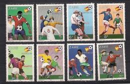 Zaire 1981 OCBn°  1100 - 1107*** MNH Cote 11,00 Euro Sport Voetbal - Zaïre