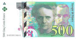 France - Pick 160a - 500 Francs 1995 - AUnc - 500 F 1994-2000 ''Pierre Et Marie Curie''