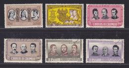 COLOMBIE AERIENS N°  275 à 280 ** MNH Neufs Sans Charnière, Petite Tâche, B/TB (D5611) Union Postale - Colombie