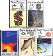 New Zealand 861-865 (complete Issue) Unmounted Mint / Never Hinged 1983 Anniversaries - Unused Stamps