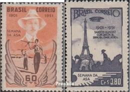 Brésil 773-774 (complète.Edition.) Neuf Avec Gomme Originale 1951 Vol Santos Dàont à Le Eiffeltur - Nuovi