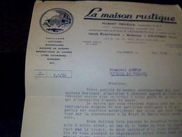 Vieux Papiers Facture La Maison Rustique Pavillon ...usine Electrique Et Bureaux A Colombes Seine Annee 1925 - France