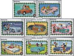 Redonda 323-330 (complete Issue) Unmounted Mint / Never Hinged 1989 Walt-Disney-Figures In Cars - Antigua Et Barbuda (1981-...)