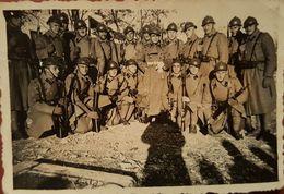 Old Orig. Photo WWII Italian Soldiers Somewhere In Croazia Croatia Italia - Photography