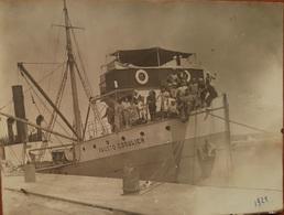 Old Orig. Photo 1924 Ship Steamer Piroscafo FAUSTO COSULICH In Porto Trieste Trst Italia - Photographie