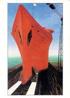 53 Le Lancement Du Normandie - Laval Art-Naïf 1997 Format 11 Cm X 15 Cm - Laval