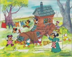 Sierra Sierra Leone Leone Block53 (complete Issue) Unmounted Mint / Never Hinged 1986 Walt-Disney-Figures - Sierra Leone (1961-...)