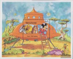 Sierra Sierra Leone Leone Block18 (complete Issue) Unmounted Mint / Never Hinged 1983 Walt-Disney-Figures - Sierra Leone (1961-...)