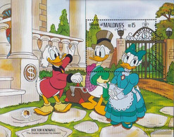 Maldives Block115 (complete Issue) Unmounted Mint / Never Hinged 1985 Walt-Disney-Figures - Maldives (1965-...)