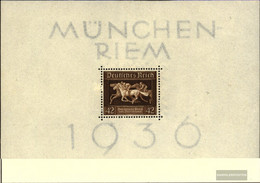 German Empire Block4 (complete Issue) With Hinge 1936 That Brown Tie - Germany