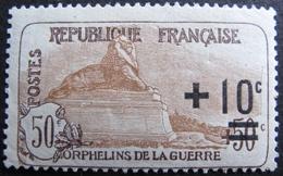 Lot FD/1023 - 1922 - AU PROFIT DES ORPHELINS DE LA GUERRE - N°167 NSG - Cote : 27,00 € - France