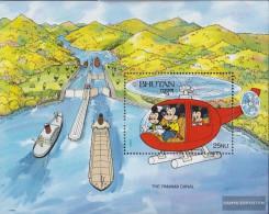 Bhutan Block307 Unmounted Mint / Never Hinged 1991 Walt-Disney-Figures - Bhutan