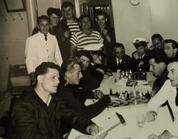 Old Orig. Photo M/b JADRAN CREW FREE TIME  Fiume Rijeka Croazia Croatia Susak Jugolinija Jadrolinija 1957. - Photography