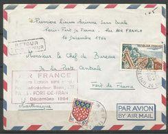 1964 - 1er Vol PARIS FORT DE FRANCE 16 12 1964, Sans Escale Par BOEING 707 TB - Airmail