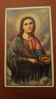 Old Holy Card Sveta Lucia Mlada Misa Kero Josip Bibinje Dalmatia - Photography