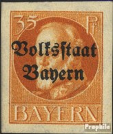 Bavière 134B Neuf Avec Gomme Originale 1920 King Ludwig Avec Surcharge - Bavière