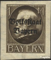 Bavière 128B Neuf Avec Gomme Originale 1920 King Ludwig Avec Surcharge - Bavière