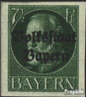 Bavière 118B Neuf Avec Gomme Originale 1920 King Ludwig Avec Surcharge - Bavière