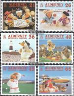 United Kingdom - Alderney 151-156 (complete Issue) Unmounted Mint / Never Hinged 2000 Ferndehtrickfiguren Wombles - Alderney