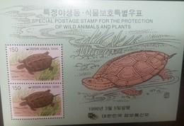 O) 1999 KOREA, TURTLE GEOCLEMYS, PROTECTION OF WILD ANIMALS AND PLANTS, SOUVENIR MNH - Korea (...-1945)