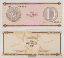 Cuba Pick-number: FX33 Uncirculated 1985 3 Pesos - Cuba