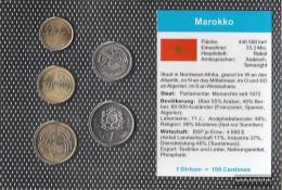 Morocco 2002 Stgl./unzirkuliert Kursmünzen Stgl./unzirkuliert 2002 5 Centimes Until 1 Dirham - Morocco