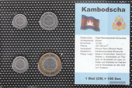 Cambodia 1994 Stgl./unzirkuliert Kursmünzen Stgl./unzirkuliert 1994 50 Sen Until 500 Sen - Camboya
