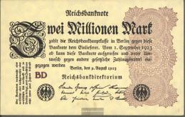 German Empire Rosenbg: 103c WZ. Rings Uncirculated 1923 2 Million. Mark - 2 Millionen Mark