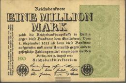 German Empire RosbgNr: 101c WZ. Grid With 8 Uncirculated 1923 1 Million Mark - [ 3] 1918-1933 : Weimar Republic