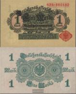 German Empire RosbgNr: 51b, Without Vacuum Dark Uncirculated 1914 1 Mark - [ 2] 1871-1918 : Duitse Rijk