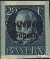 Bavière 121B Neuf Avec Gomme Originale 1920 King Ludwig Avec Surcharge - Bavière