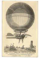 6 - Le Premier Ballon Monté Par Blanchard Et Gefferies Ayant Traversé La Manche - 7 Janvier 1785 - Dirigeables