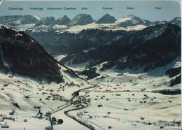Flugaufnahme Stein (Toggenburg) Mit Churfirsten Im Winter En Hiver - Flugbild Gross - SG St. Gall