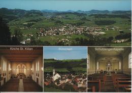 9606 Bütschwil Im Toggenburg - Generalansicht, Kirche St. Kilian, Kirche, Schutzengel-Kapelle - Photo: Gross + H. Mayer - SG St. Gall