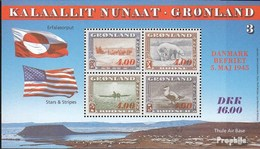 Denmark - Greenland Block8 Unmounted Mint / Never Hinged 1995 War - Blocks & Kleinbögen