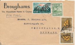 Ceylon Cover Sent Air Mail To Denmark - Sri Lanka (Ceylon) (1948-...)