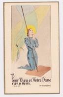 Jolie Petite Image Sainte Jeanne D'Arc, Dos Vierge - Religion & Esotericism