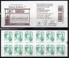 """CARNET N° 858-C..de Guichet / Ciappa 12ex LV / """"COUVERTURE-300 BUREAUX DE POSTE PHILATELIQUES """" NEUF - Carnets"""