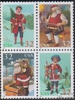 Etats-Unis 2644A-2647A Bloc De Quatre (complète.Edition.) Neuf Avec Gomme Originale 1995 Noël - Neufs
