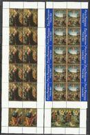 1999 Vaticano Vatican NATALE (con Prioritaria)  CHRISTMAS 10 Serie Di 4v. In Minifoglio MNH** Minisheet - Natale