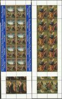 1999 Vaticano Vatican NATALE (con Prior.) - CHRISTMAS 10 Serie Di 4v. In Minifoglio MNH** Minisheet - Natale