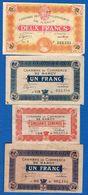 France  Nancy  4  Billets - Chamber Of Commerce