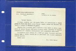 ##(DAN183)-Italia - Cartolina Postale Lire 1,20 Con Stampa Privata Al Verso - Nuova - 6. 1946-.. Repubblica