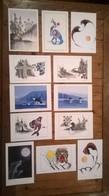 Lot De 12 Cartes Postales Michael Duncan / Native Americans / Paintings 15x23 - Illustrateurs & Photographes