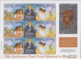Mikronesien 254-258 Feuille Miniature (complète.Edition.) Neuf Avec Gomme Originale 1992 Us-Friedenskorps - Micronésie