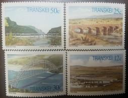 O) 1985 TRANSKEI, BRIDGES - MITCHELL-WHITE KEI-UMZIMVUBU-TSITSA, SET MNH - Transkei