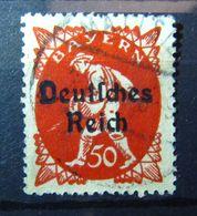 1920, Bayern 50 Pf Dt. Reich, Aufdruckfehler Mi. 125 VI, Value 30,- - Errors And Oddities