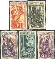 Tchécoslovaquie 1275-1279 (complète.Edition.) Oblitéré 1961 Marionnettes - Tschechoslowakei/CSSR